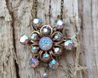 Aurora Borealis Vintage Restyled Necklace