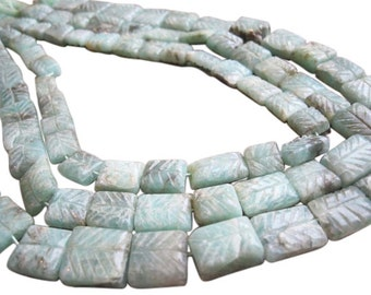 Chrysoprase Beads, Carved Chrysoprase, Green Chrysoprase Stone, Green Gemstone Beads, SKU 2761A