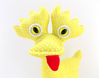 Cute Monster Plush, Monster Toy, Stuffed Monster, Alien Toy, Alien Plush, Stuffed Alien by Adopt an Alien named Cheesy