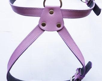 XL Cool  Leather Dog Harness Lavander XL