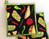 Mexican Food Quilted Potholders