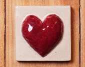 4x4 Heart tile high relief ceramic heart tile perfect for gift item or tile installation