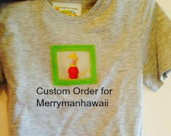 Cute 100% Cotton,  S/S Tee with Applique Vintage Fisher Price  SIZE 2-4