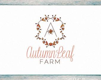 Premade Logo Design, Custom Logo,  Farm Logo, Soap Logo, Beauty Logo, Business Logo, Leaf Logo, Logo, Watermark, Monogram Logo, Tree Logo
