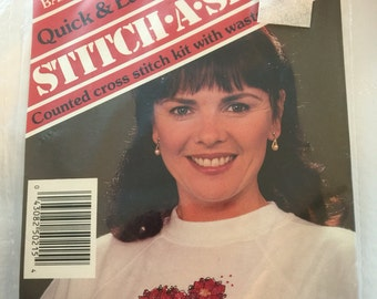 1990 Banar Designs Stitch A Shirt Counted Cross Stitch SAS-215