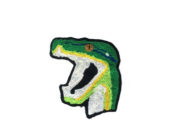 Snake Chainstitch Patch