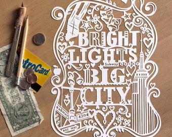Template! Bright Lights (NYC) Papercut