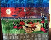 Black History Sale Woman's Work is Never Done, 37x62 inch original art quilt by O.V. brantley