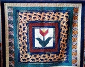 Black History Sale Awesome African Elephants in My Garden (Number 3) Wallhanging quilt