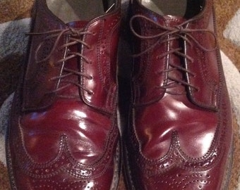 11 D / DEXTER  WINGTIPS Cordovan Patina Mens Shoes leather Shoes Brogue