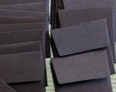 100 mini envelopes in Java Brown