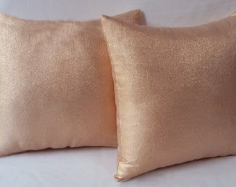 rose gold pillow, rose gold decorative pillow, rose gold decor, throw pillow, metallic cushion cover, metallic pillow cover, wedding decor