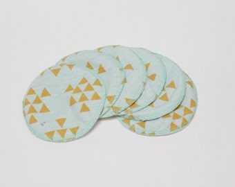 SALE Gold Triangles Washable Nursing Pads 6pk