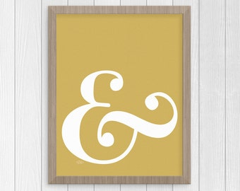 Ampersand Sign, Couple's Gift, Instant Download, And Sign, Digital Print, Last Minute Gift, Printable Art, And Symbol, Digital Download