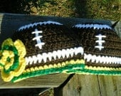 Newborn Green Bay Packers Football Beanie Hat,  Boys or Girls Design.  Custom order also available all sizes.