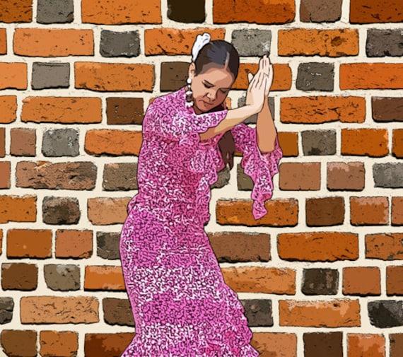 FLAMENCO Dancer abstract printable art latin woman digital graphics download spanish dancer dance images woman dancing printables