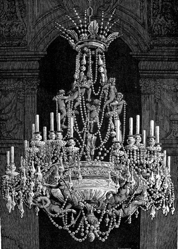 antique chandelier png clip art Digital graphics download lighting house wares printables collage sheets vintage illustration printable art