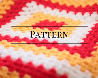 Baby afghan pattern, Easy crochet afghan pattern