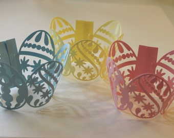Easter Egg Cupcake Wrappers -- Set of 12