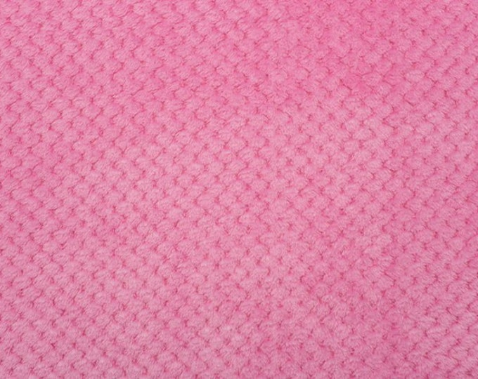 Minky Hot Pink Cloud Spa Minky Children's Fabric by Shannon Fabrics