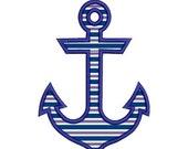 SALE 65% off Anchor Applique Machine Embroidery Designs 4x4 & 5x7 Instant Download Sale