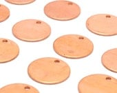 20 Raw Copper  Stamping Tags , (15x0.80 Mm)  D499