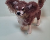 Chihuahua  Felted Wool Dog Ornament