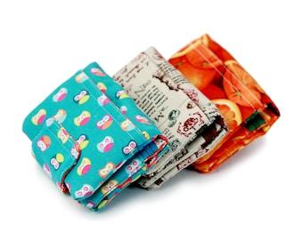 Trifold wallet, tri fold wallet, handmade fabric wallet by Napkitten