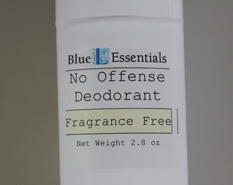 Natural Deodorant - Fragrance Free - No Offense Deodorant