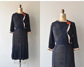 25% OFF SALE Honor Society dress | vintage 1930s dress • silk 30s dress