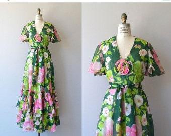 25% OFF.... Floradora maxi dress | vintage 1970s maxi dress | floral print 70s maxi dress