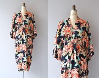 Sakura robe | vintage 1930s kimono robe | floral 30s robe