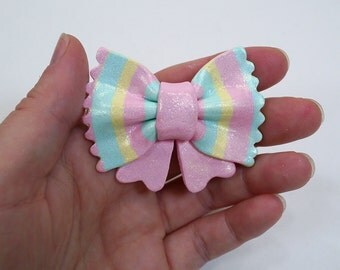 Fairy Kei Polymer clay Bow pin