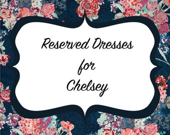 Reserved Listing for Chelsey's Wedding Party