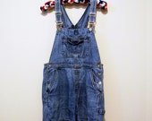 Vintage Denim Overalls Hipster Fashion