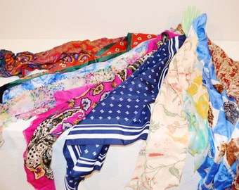 Scarves for Every Season......Vintage Pack of Ten