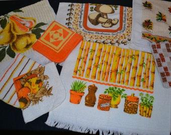 Vintage Orange Kitsch Mix Up Collection 1970's Nine Pieces