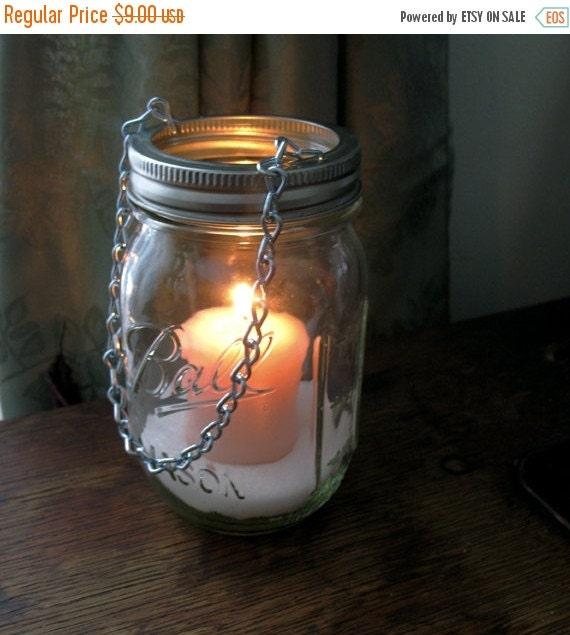 Stargaze Set Of 2 Hanging Mason Jar Pendant Lights By: Sale Hanging Mason Jar Luminary DIY Tea Light Lids Set By
