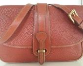 SUPER SALE Vintage Dooney & Bourke Bag Shoulder Style or Crossbody Bag/Purse/Genuine All Weather Leather**STUNNING**