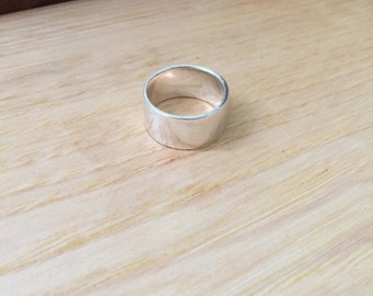 Sterling Silver Cigar Band Ring
