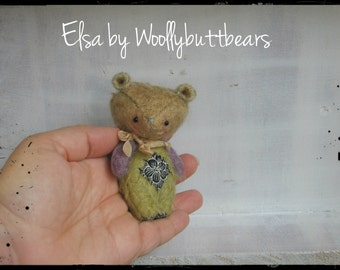Sold/Reserved Elsa by Woollybuttbears 3 inches