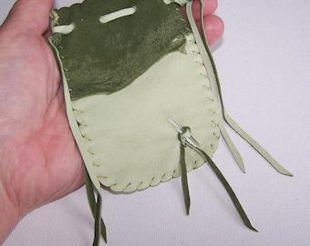 Leather Medicine Bag...SAGE GREEN