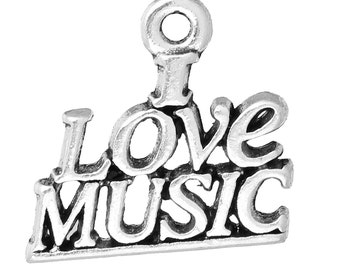 I Love Music - Set of 8 charms - #MP129