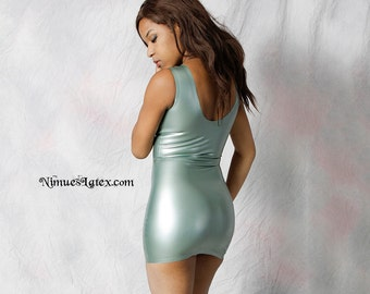 Latex Tank Dress.  Short and tight with low neckline--very sexy.  Made to order.
