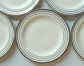 RESERVED for E*** S***: Custom Atomic Art Deco Dinnerware Set - Salem Zephyr Platinum Pattern, Century & Zephyr Shapes