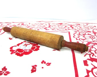 vintage Wood Rolling Pin Wooden Baking Roller Kitchen Decor Antique Primitive