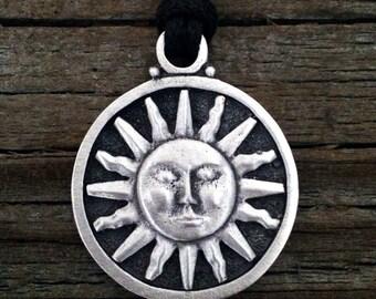 Heraldic Sun Pewter Pendant