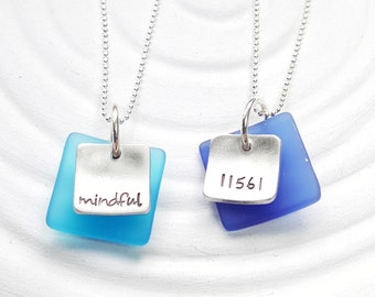 Sea Glass Necklace - Sea Glass Jewelry -  Personalized Jewelry - Minimalist Necklace - Beach Jewelry - Gift for Her - Summer Necklace
