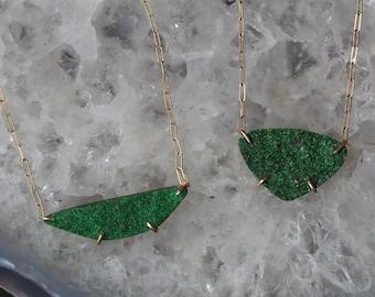 Custom Uvarovite / Green Garnet Necklace