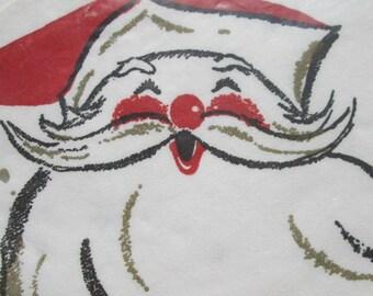 Vintage Super Cute Kitschy Santas Napkins NOS